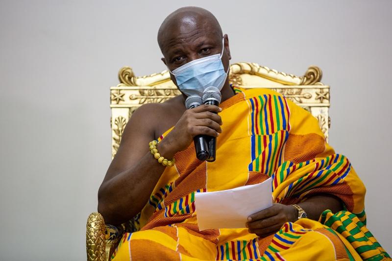 Photos - COURTESY CALL ON AGBOGBOMEFIA TOGBE AFEDE XIV BY H. E. JOHN DRAMANI MAHAMA